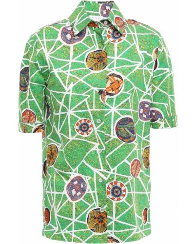Зеленая хлопковая рубашка Stella Jean