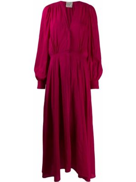 Платье миди на пуговицах с V-образным вырезом Forte Forte