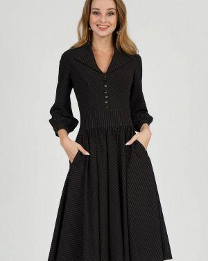 Повседневное платье осеннее черное Marichuell