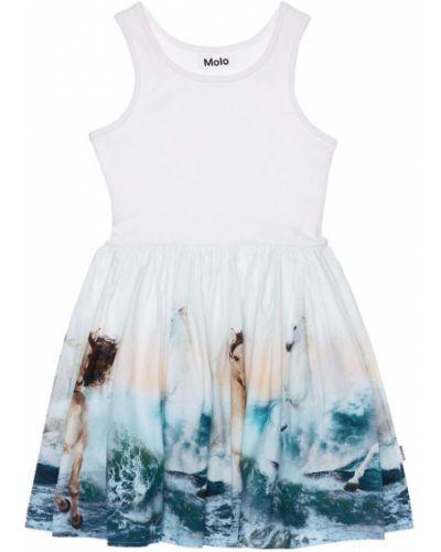 Хлопковое платье - белое Molo