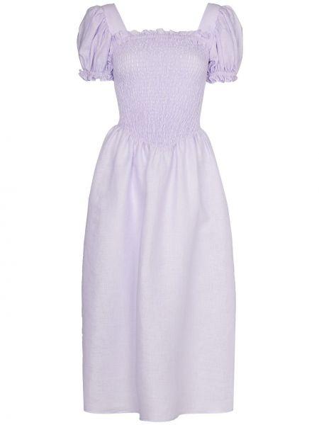 Fioletowa koszula nocna materiałowa Sleeper