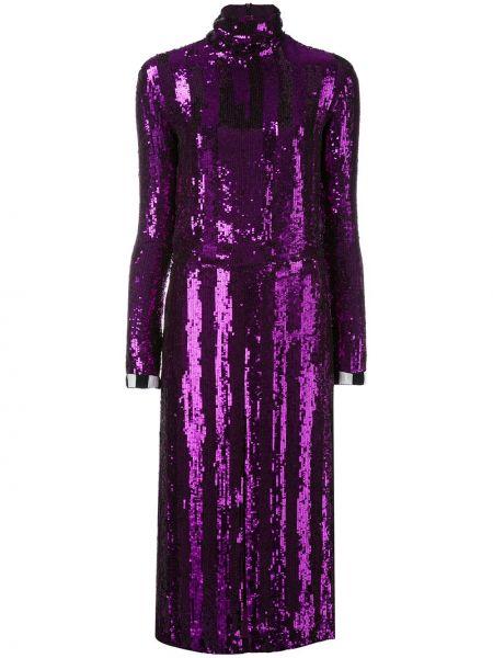 Платье с пайетками с заниженной талией Nina Ricci