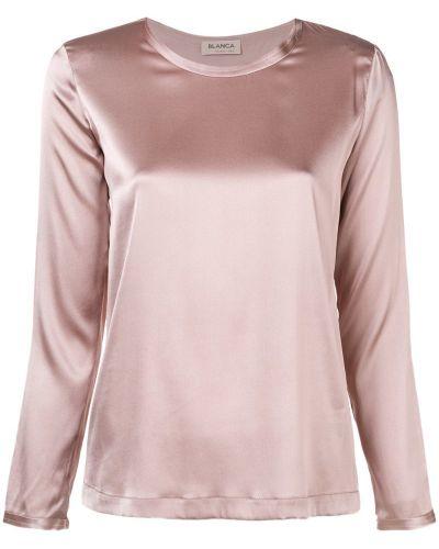 Блузка розовая шелковая Blanca