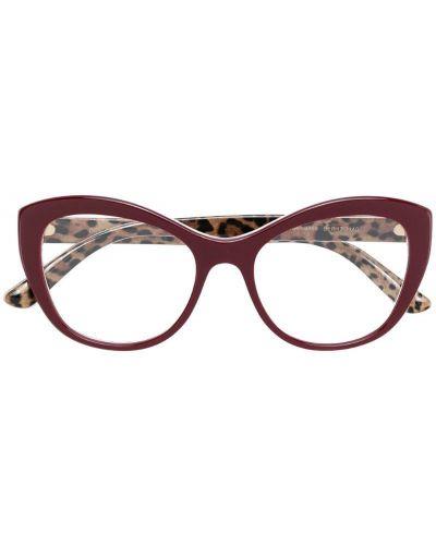 Красные очки кошачий глаз Dolce & Gabbana Eyewear