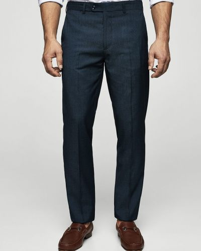 Синие зауженные брюки Mango Man