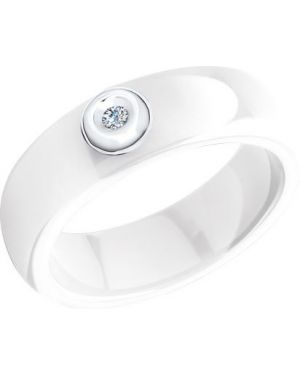 Кольцо из золота белый Sokolov