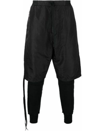Зауженные брюки черные с манжетами Unravel Project