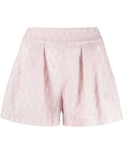 Розовые вязаные короткие шорты из вискозы Missoni