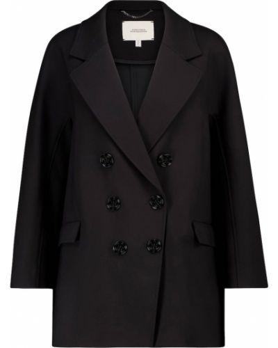 Черный классический пиджак двубортный из вискозы Dorothee Schumacher