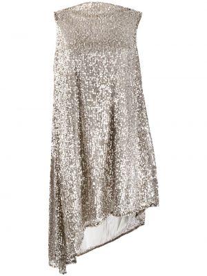 Sukienka rozkloszowana bez rękawów z haftem Halpern