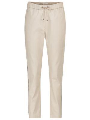 Bawełna bawełna beżowy klasyczne spodnie rozciągać Brunello Cucinelli