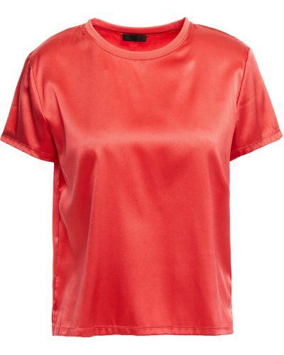 Prążkowany t-shirt z jedwabiu Atm Anthony Thomas Melillo