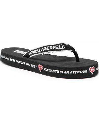 Czarne sandały zamszowe Karl Lagerfeld