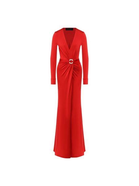 Платье макси с декольте шелковое Philipp Plein