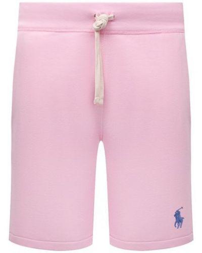 Розовые хлопковые шорты Polo Ralph Lauren