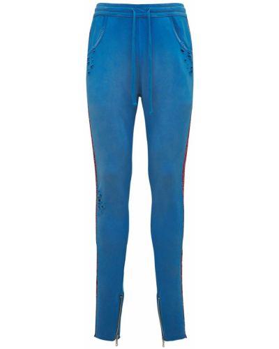 Niebieskie spodnie bawełniane Alchemist