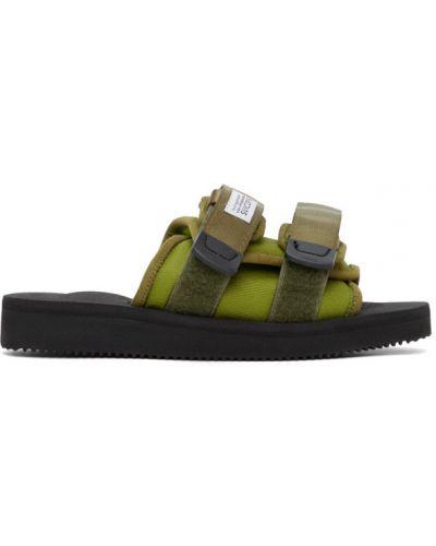 Z paskiem brezentowy czarny sandały na paskach Suicoke