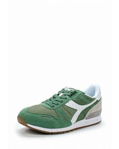 Зеленые кроссовки замшевые Diadora