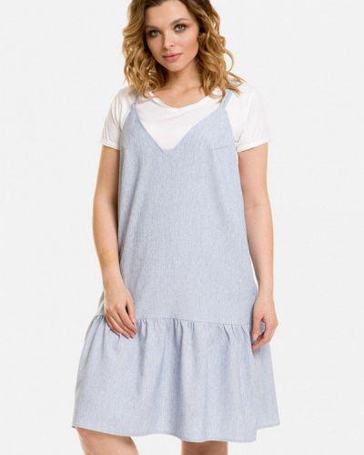 Голубое весеннее платье Venusita