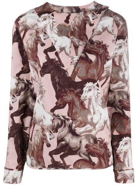 Блузка с принтом - фиолетовая Kenzo