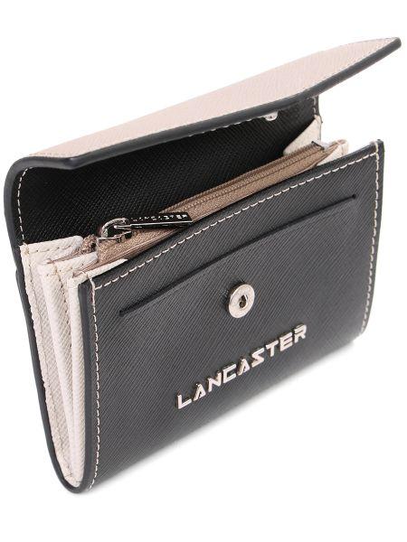 Кожаный кошелек на молнии черный Lancaster