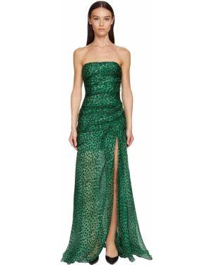 Платье с завышенной талией леопардовое Ermanno Scervino