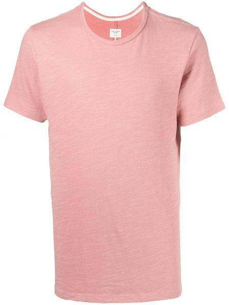 Różowy bawełna z rękawami koszula okrągły Rag & Bone