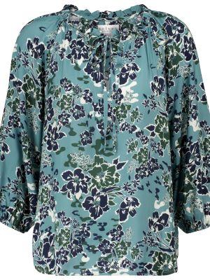 Niebieska bluzka z wiskozy Velvet