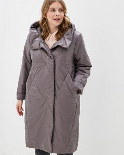 Прямое бежевое пальто с капюшоном Winterra