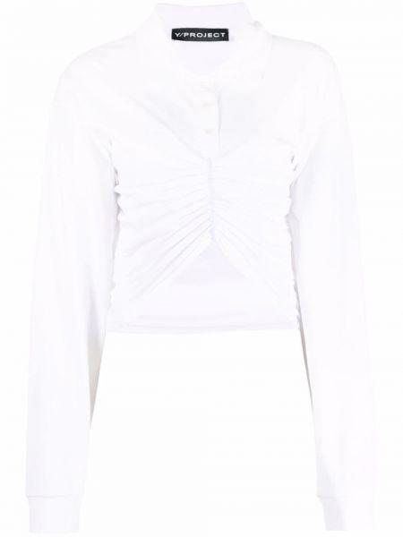 Хлопковая белая классическая рубашка с воротником Y Project