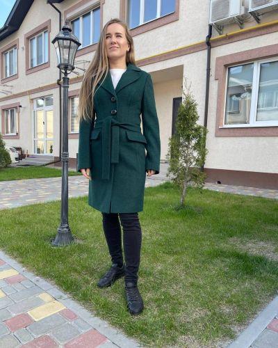 Пальто - зеленое Albanto