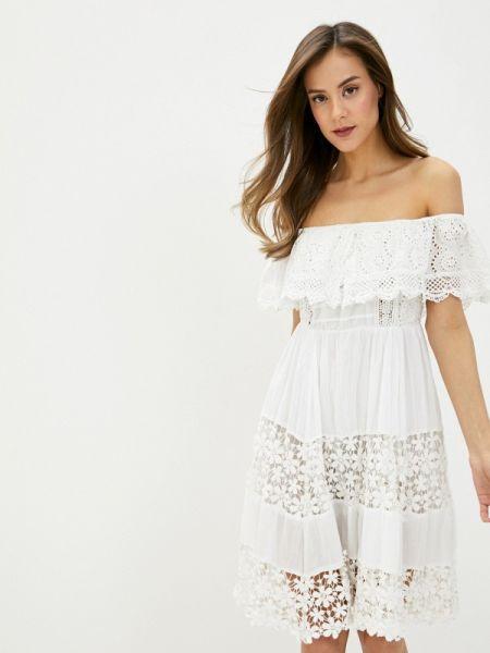 Платье с открытыми плечами весеннее Fresh Cotton