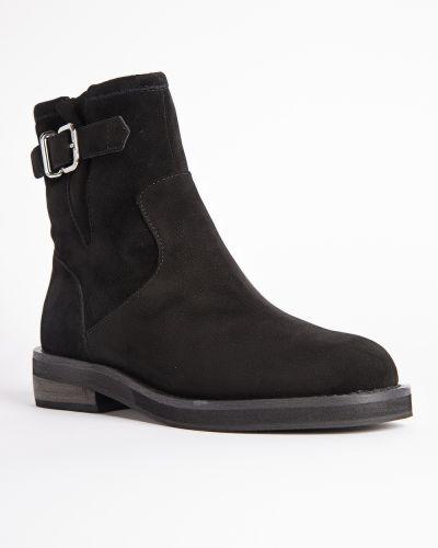 Черные кожаные ботинки Berkonty