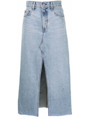 Синяя хлопковая юбка Nobody Denim