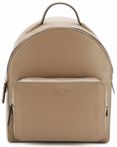 Кожаный рюкзак бежевый Coccinelle