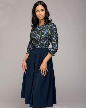 Платье миди повседневное с поясом 1001 Dress
