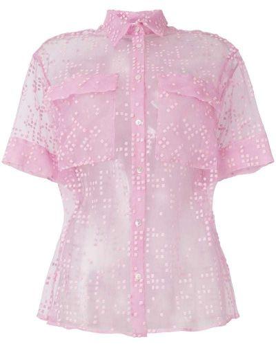 Рубашка прозрачная розовый Si-jay
