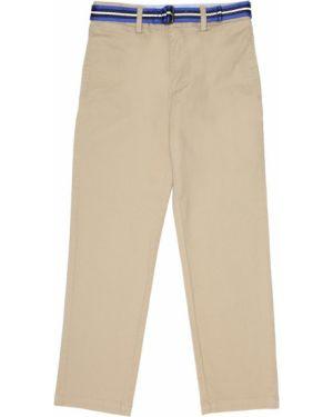 Ватные хлопковые бежевые классические брюки Polo Ralph Lauren Kids