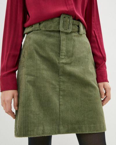 Зеленая прямая юбка карандаш Ichi