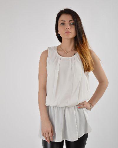 Блузка с коротким рукавом приталенная польская Top Secret