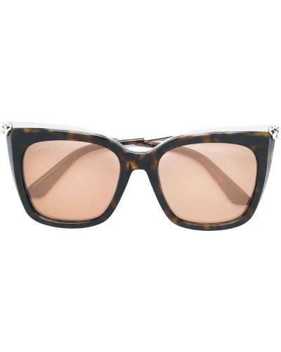 Солнцезащитные очки кошачий глаз коричневый Cartier