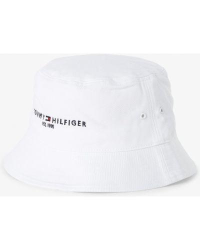 Biały kapelusz na co dzień Tommy Hilfiger