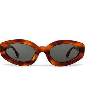 Brązowe okulary Le Specs Luxe
