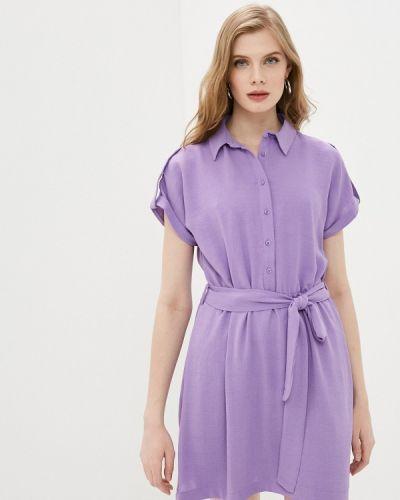 Фиолетовое платье-рубашка Trendyol