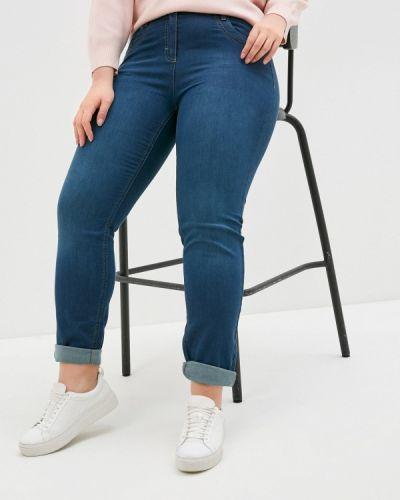 Синие джинсы-скинни узкого кроя Samoon By Gerry Weber