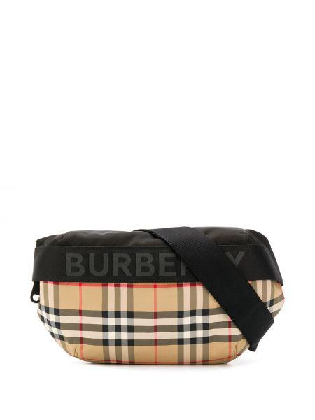 Поясная сумка в клетку винтажная Burberry