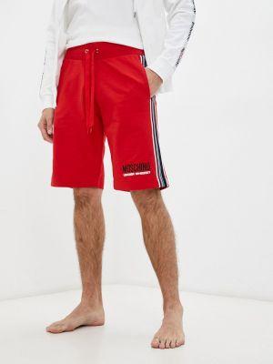 Красные шорты осенние Moschino Underwear