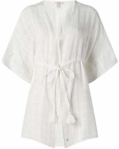 Biały ponczo Esprit