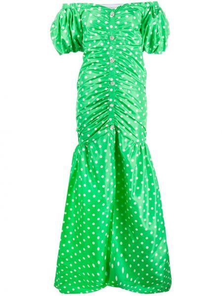 Платье мини в горошек облегающее Alessandra Rich