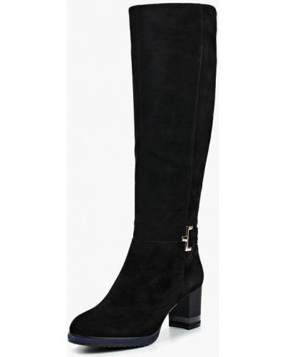 Ботинки на каблуке осенние черные Julia Grossi